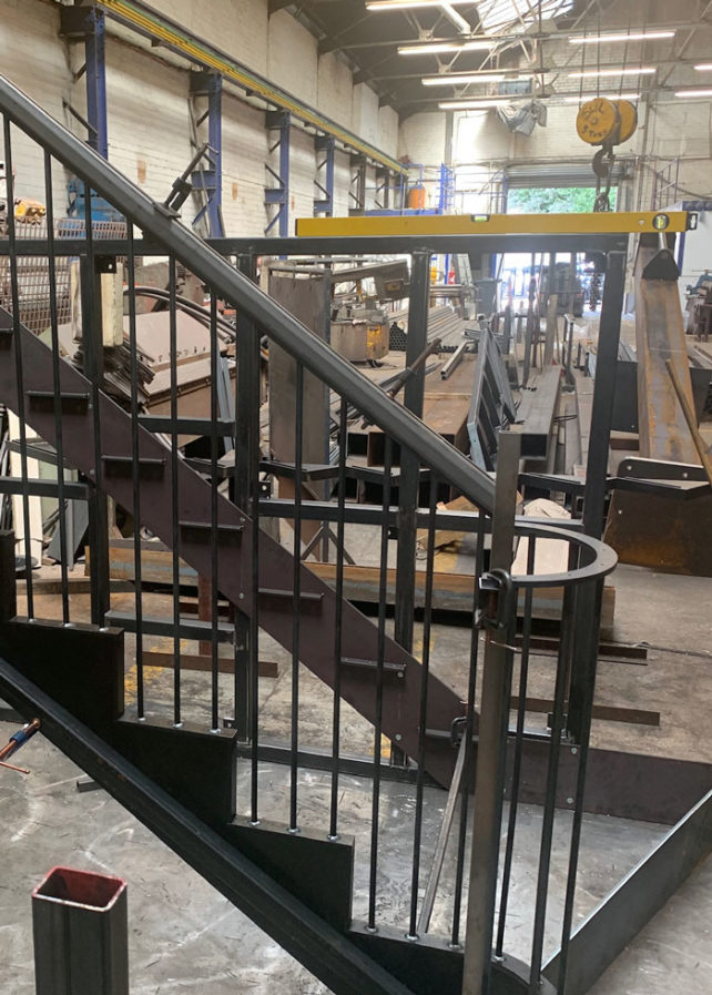 Staircase in the workshop
